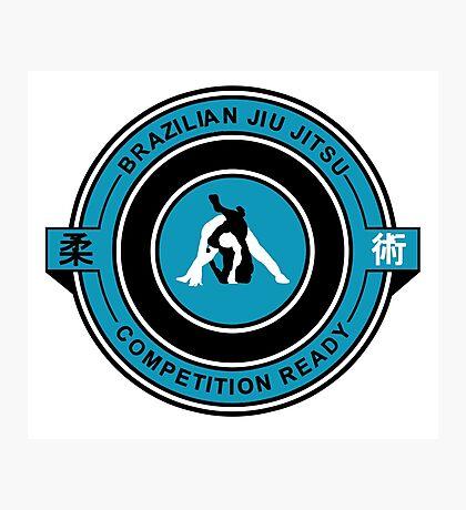 Brazilian Jiu Jitsu Competition Ready Triangle Choke Blue Photographic Print