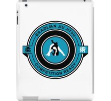 Brazilian Jiu Jitsu Competition Ready Triangle Choke Blue iPad Case/Skin