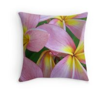 Candy Pink Frangipani - Femininity Throw Pillow