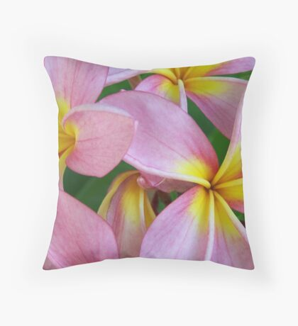 Candy Pink Frangipani - Femininity Throw Pillow