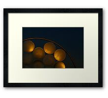 Golden Discs Framed Print