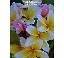 Fruit Salad Frangipani - Nice n Sweet Photographic Print
