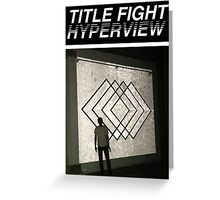Title Fight Hyperview Album Cover Design Greeting Card