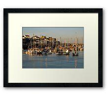 Bridlington Harbour in evening light Framed Print
