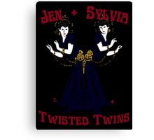Twisted Victorian Twins Canvas Print