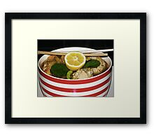 Spicy Chicken meatball Soup Framed Print