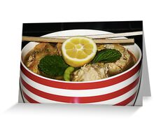 Spicy Chicken meatball Soup Greeting Card