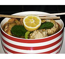 Spicy Chicken meatball Soup Photographic Print