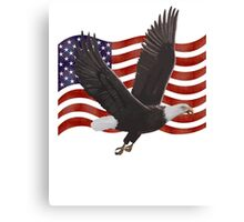 American Bald Eagle Flag  Canvas Print