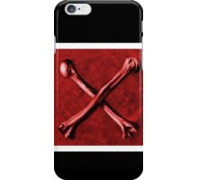 Red Cross Bones, Grungy Anatomy Tattoo style, art illustration print Colorful, Skeleton Realistic iPhone Case/Skin