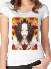 Vie en fleurs Women's Fitted Scoop T-Shirt