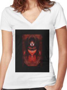 Purgatory's Caress Women's Fitted V-Neck T-Shirt