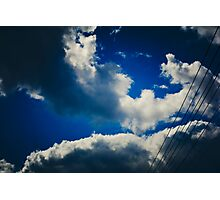 Powers inline and outside the divine shines Photographic Print