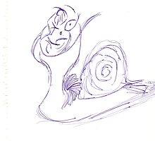 faceless snail. by BlackDogAura