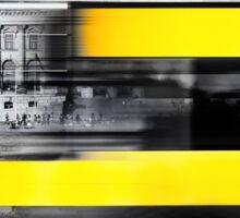 Berlin Reichstag buildung with yellow double-decker bus Sticker