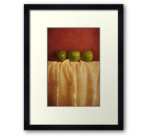 trois pommes Framed Print