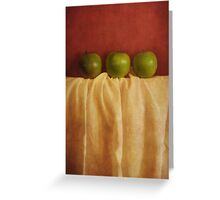 trois pommes Greeting Card