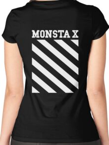 Monsta X Off-White Inspired Logo Women's Fitted Scoop T-Shirt