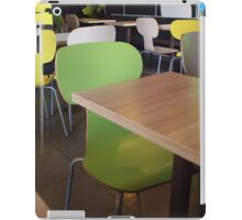 Wooden tables and chairs with furiture in restaurant  iPad Case/Skin