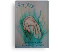 An Axe - Blue Velvet Inspired Gig Poster Canvas Print