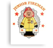 Junior Toy White Fireman Metal Print