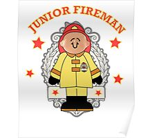 Junior Toy White Fireman Poster