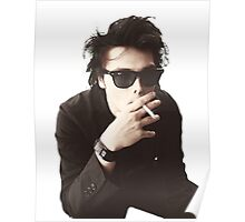Transparent Gerard Way Smoking Poster