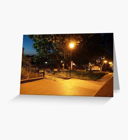 Night scene of the city Greeting Card