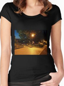 Night scene of the city Women's Fitted Scoop T-Shirt