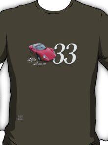 1967 Alfa Romeo Stradale 33 - Art on Wheels T-Shirt