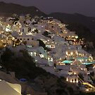 Thira / Fira Late Evening Santorini Greece  by mikequigley