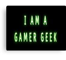 Gamer Geek Glitches Canvas Print