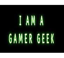 Gamer Geek Glitches Photographic Print
