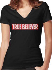 True Believer Women's Fitted V-Neck T-Shirt
