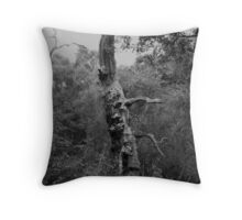 Tree rising from below Throw Pillow