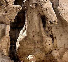 The Horse In The Fountain by Moonandsixpence