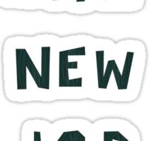 A New Job Greetings Sticker