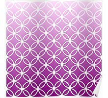 Magenta Ombre Lattice Circles Poster