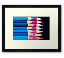 blue and pink! Framed Print
