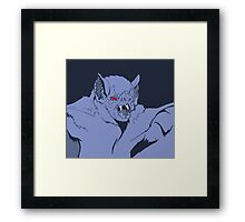 Pastel Vampire Bat Framed Print