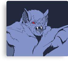 Pastel Vampire Bat Canvas Print