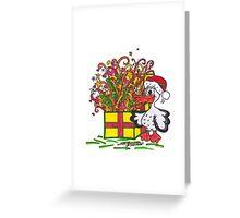 Santa Pelican Greeting Card