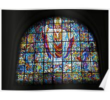 Church stained glass window Poster