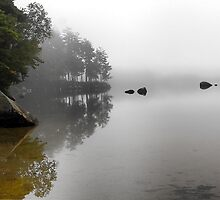 The Stillness - McWain Pond (Waterford,  Maine) by T.J. Martin