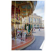 Merry go Round in Montpellier, France Poster