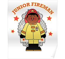 Junior Toy Black Fireman Poster