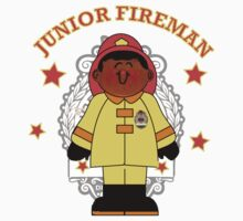 Junior Toy Black Fireman Kids Clothes