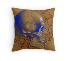 Red White and Blue , Tattoo Skull Design Throw Pillow