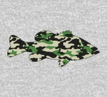 Camo Bass  Kids Clothes