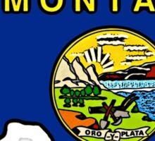 Texas outline Montana flag Sticker